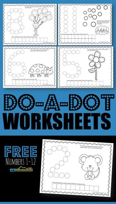 FREE Counting Do a Dot Printables