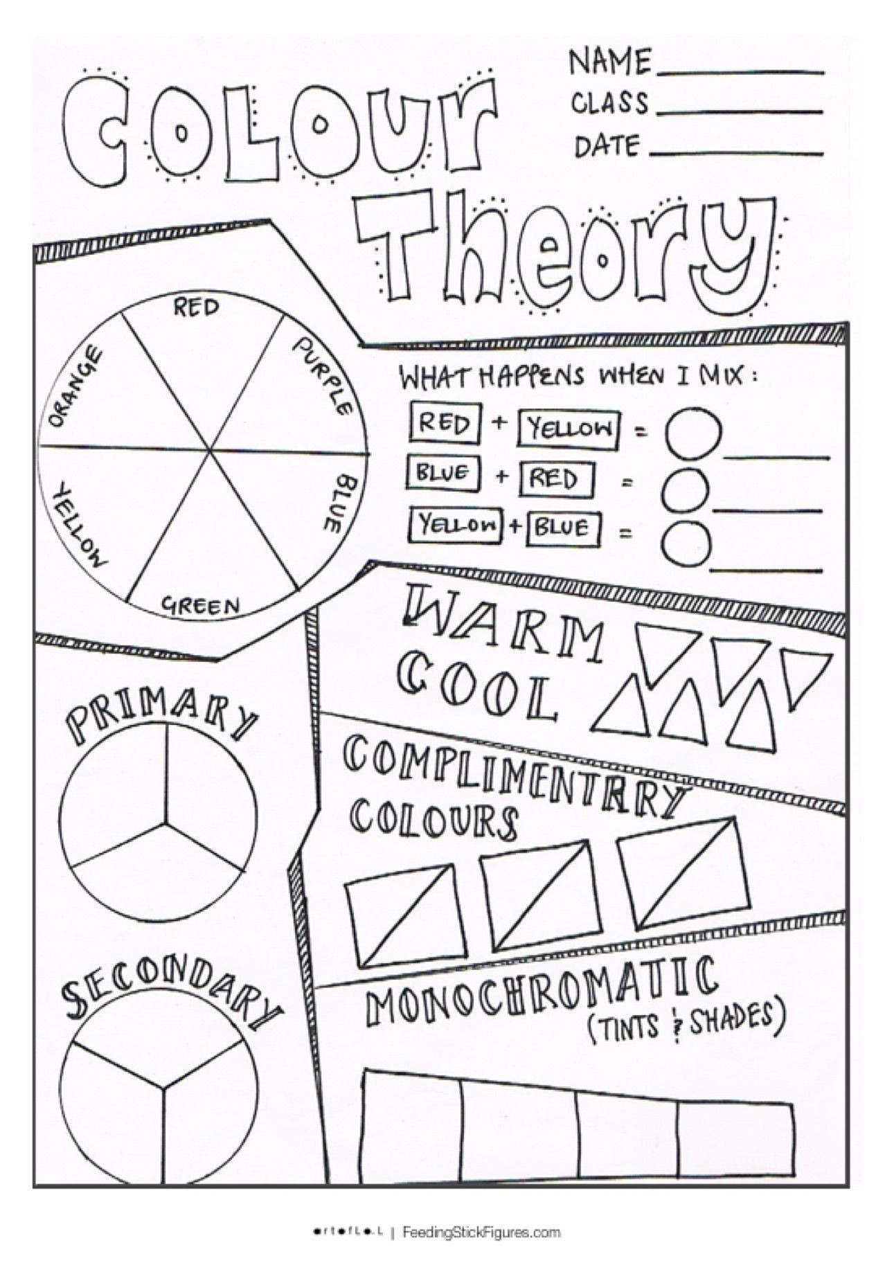 Color theory Worksheet Answer Key