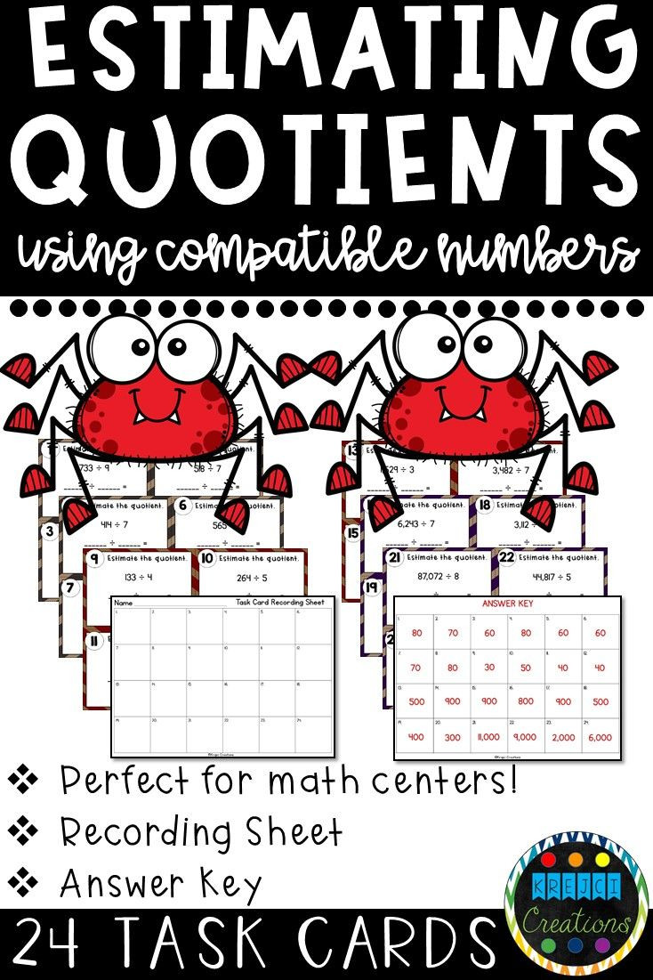 Compatible Numbers Division Worksheets