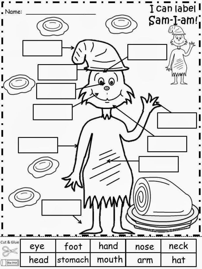 Free Dr Seuss Math Worksheets Worksheets square root of 400