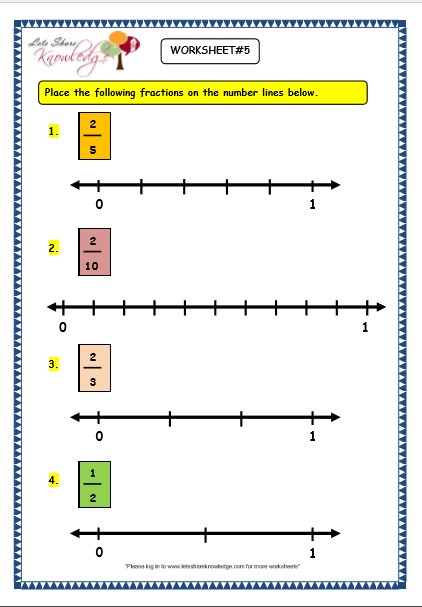 Grade 3 Maths Worksheets 7 2 Making Fractions on the