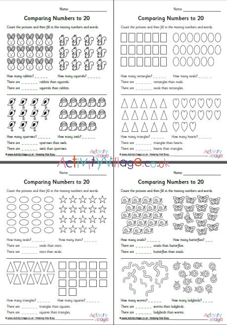 Numbers to 20 Worksheets