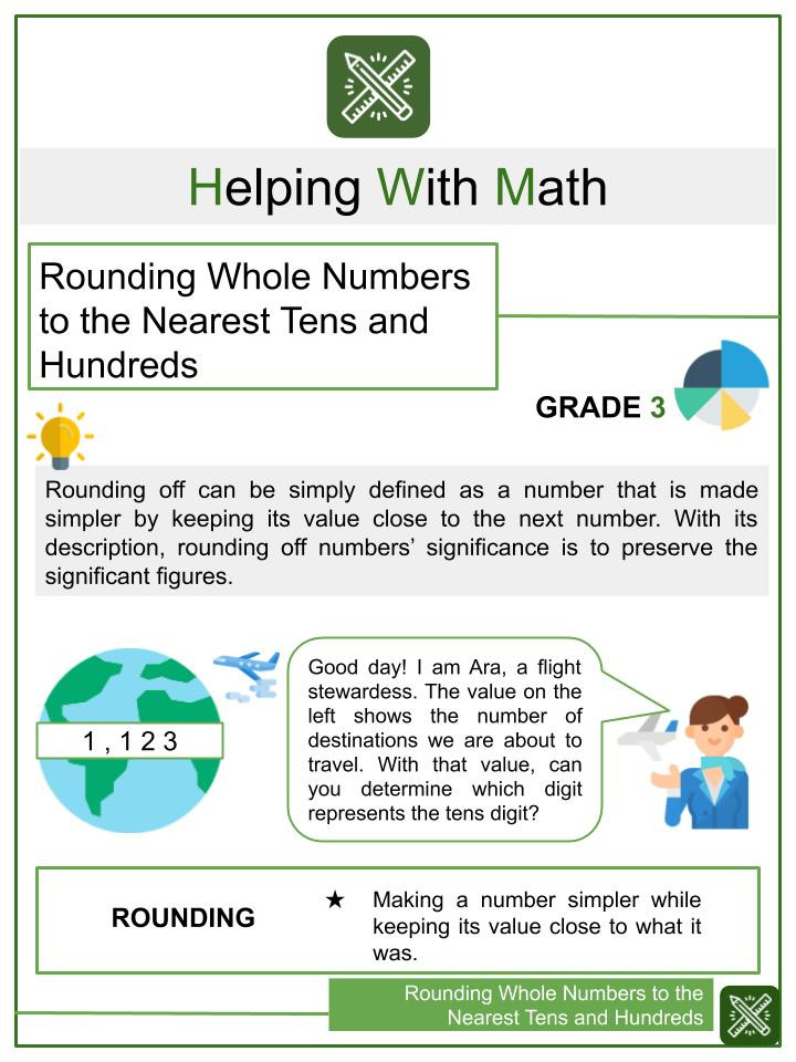 Rounding Numbers Worksheets 4th Grade