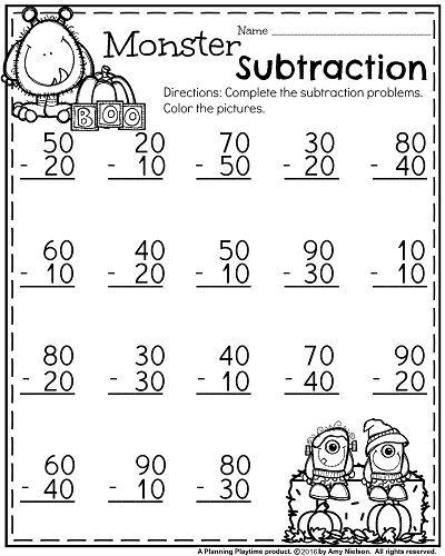 Subtracting Multiples Of 10 Worksheets