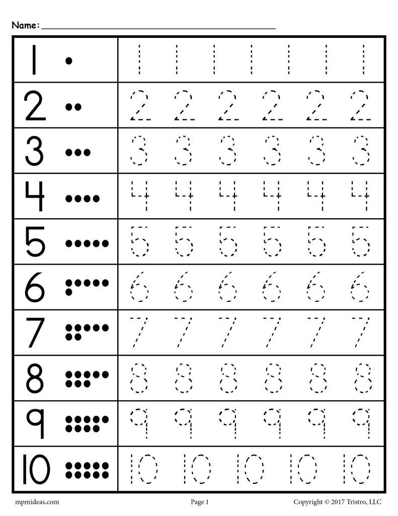Tracing Numbers 11 20 Worksheets