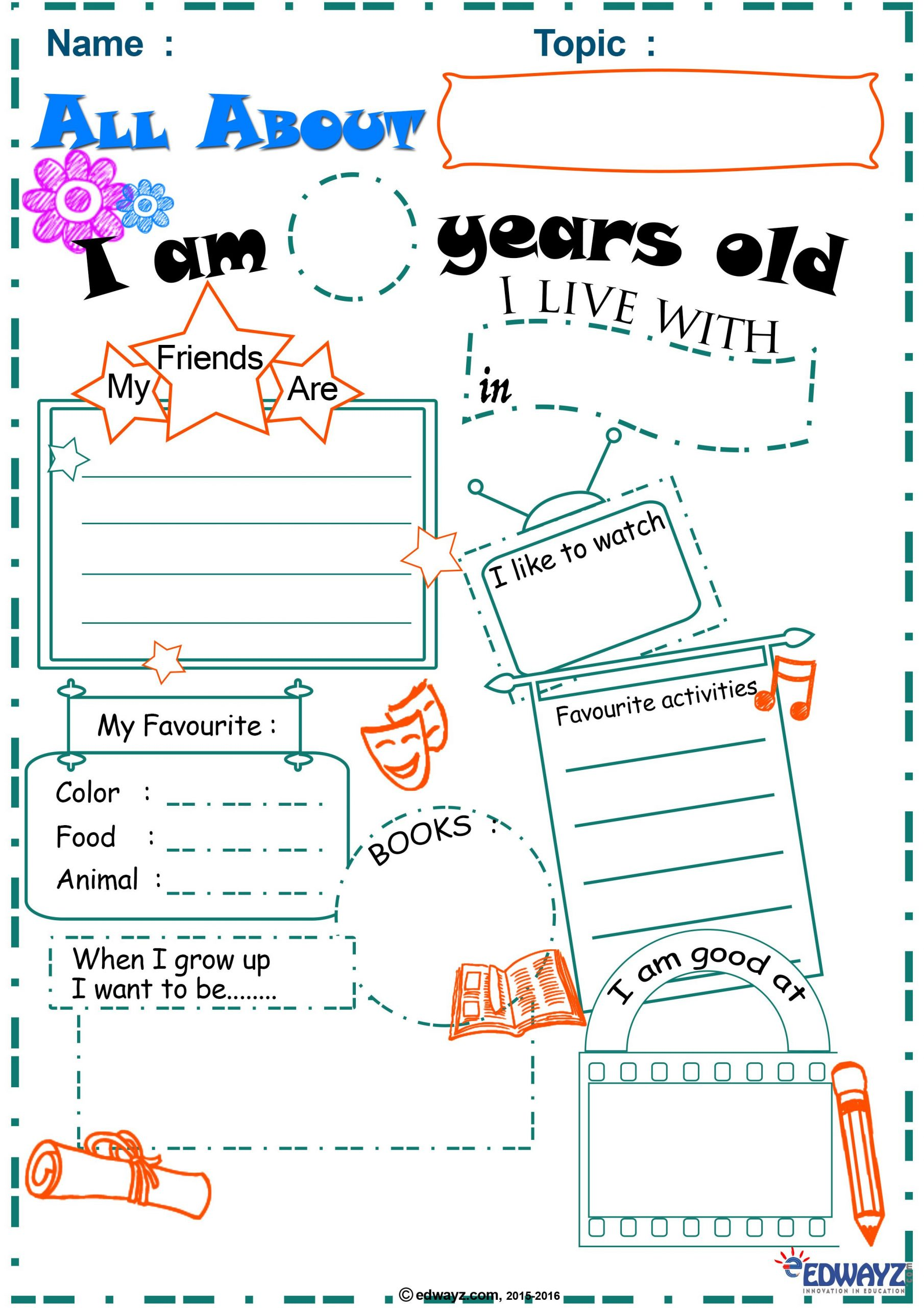 All about you worksheets Primarykids