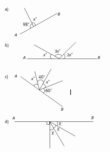 Angle Puzzle Worksheet Answers New Angles In A Straight Line