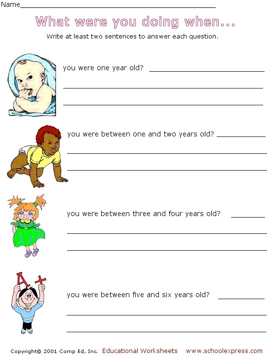 Sentence Writing Answering Questions in plete Sentences