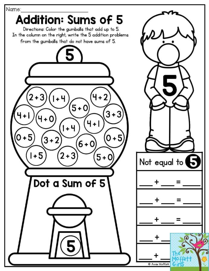 Free Bubble Gum Math Worksheets Worksheets 5th grade