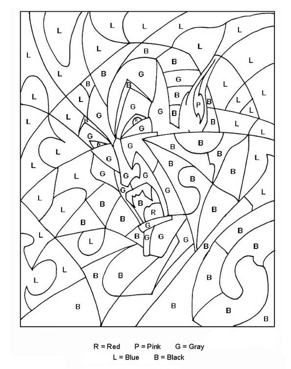 Color By Letters Coloring Pages Best Coloring Pages For Kids