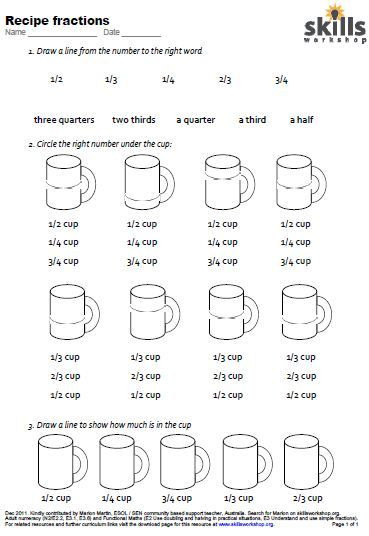 A worksheet which gives students practice in naming and