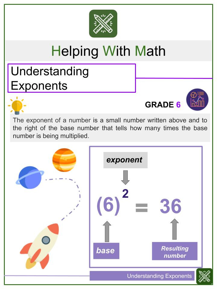 Exponents Product Rule Worksheet