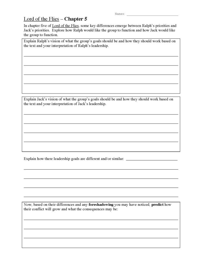 Foreshadowing Worksheets 5th Grade