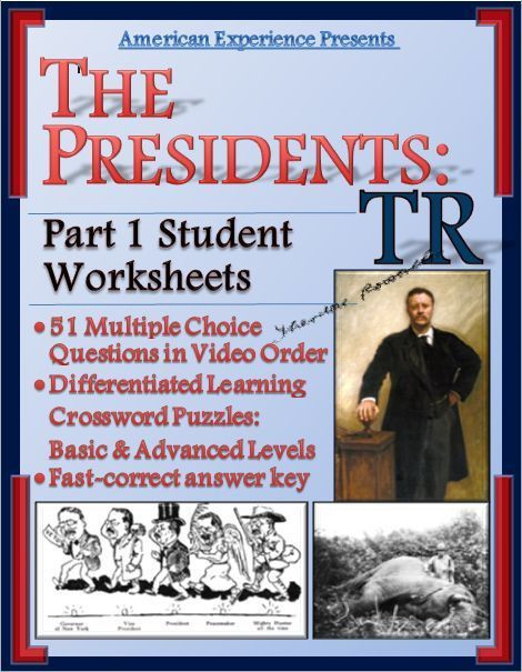 American Experience Theodore Roosevelt Part 1 Worksheet and