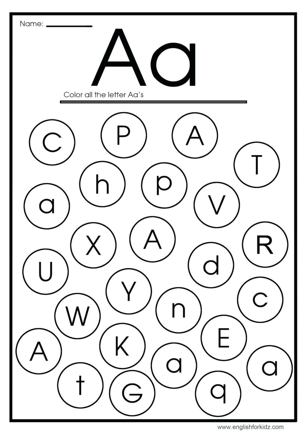 Initial Letter sounds Worksheets