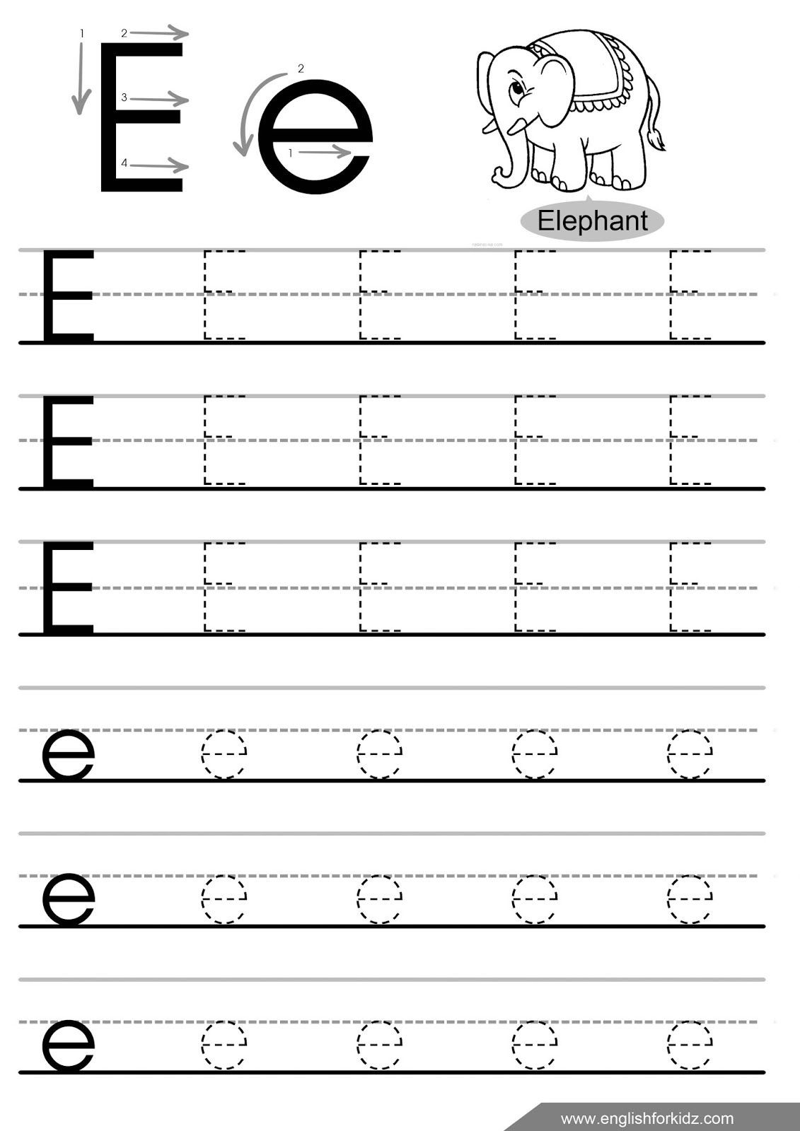 Letters and Numbers Tracing Worksheets