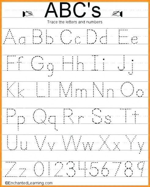 Letters and Numbers Worksheet