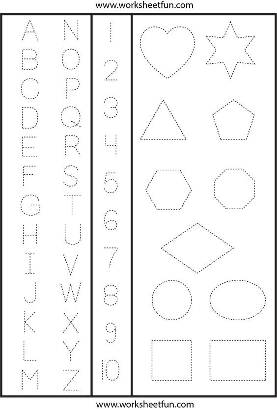Letters and Numbers Worksheets