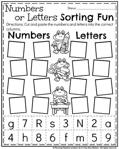 Learning Letters And Numbers Worksheets