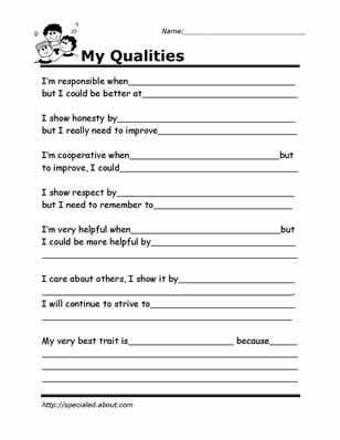 Life Skills for Teenagers Worksheets