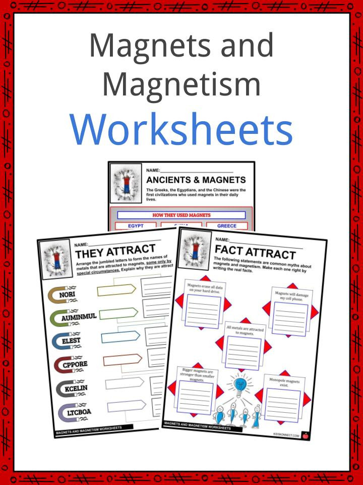 Magnets and Magnetism Facts Worksheets Histroy & Concept