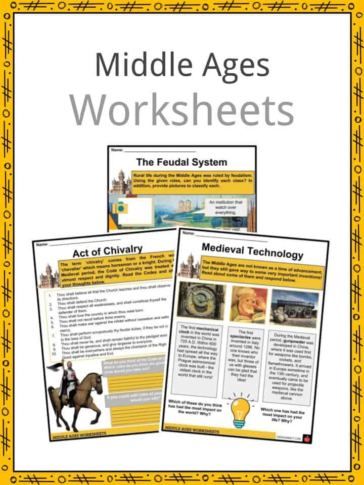 Middle Ages Facts Worksheets Events Culture & Traditions