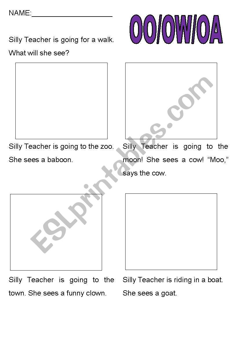 Oa and Ow Worksheets