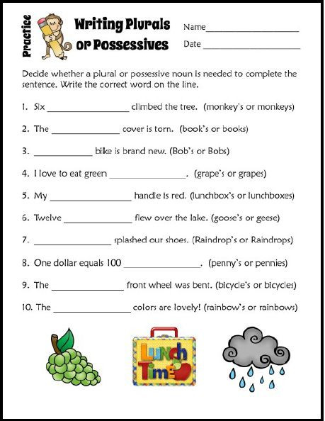 Plurals and Possessives Worksheets