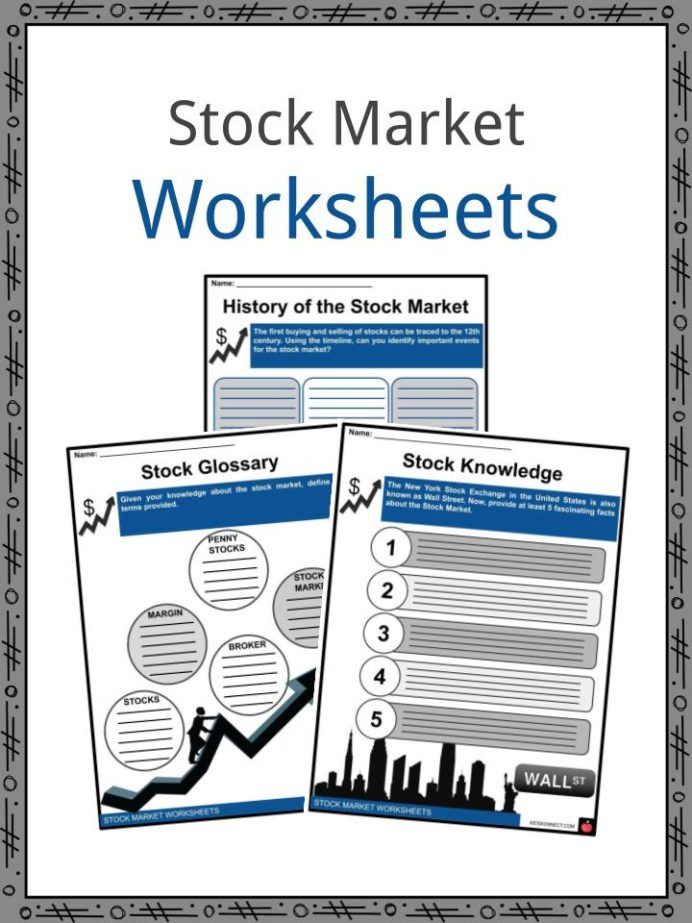 Reading A Stock Table Worksheet