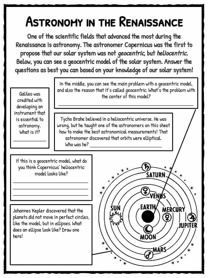 The Renaissance Period Facts Information & Worksheets