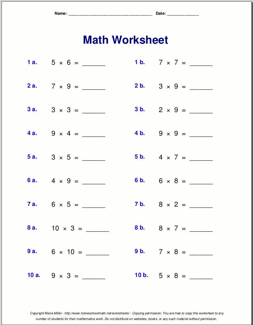 Repeated Addition Worksheets Pdf