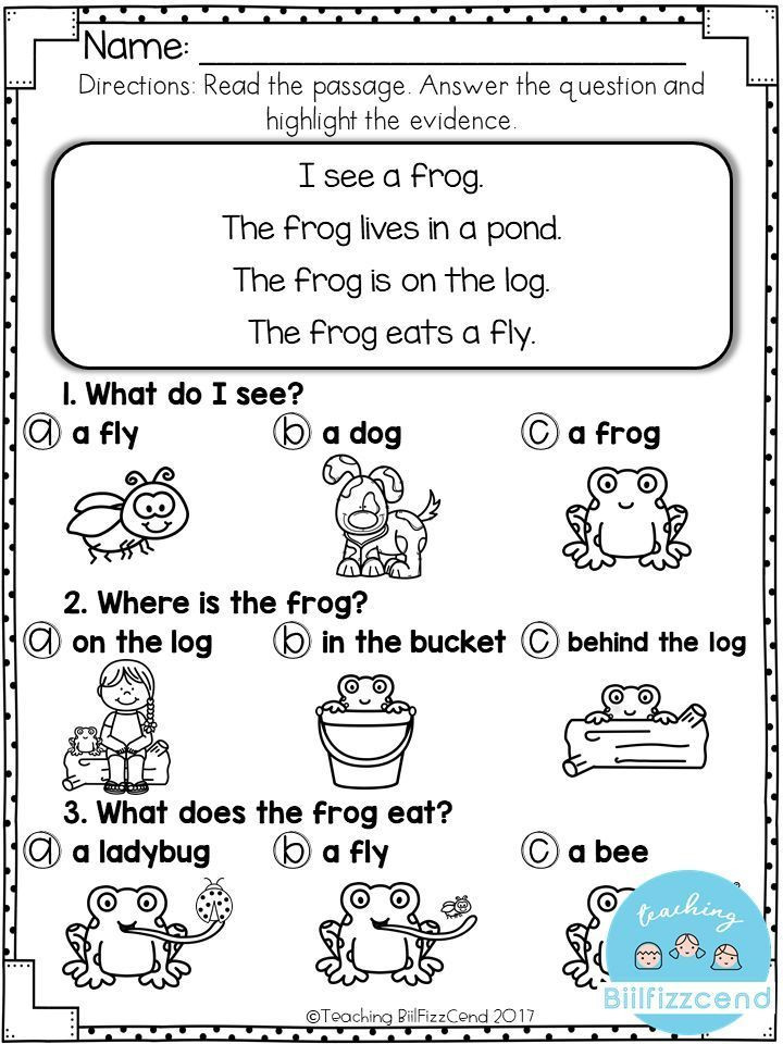 FREE Reading prehension For Early Reader