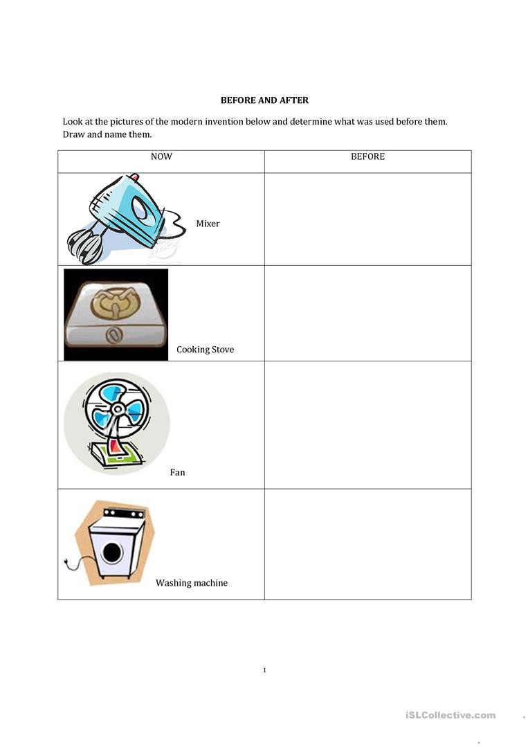Then and Now English ESL Worksheets for distance learning