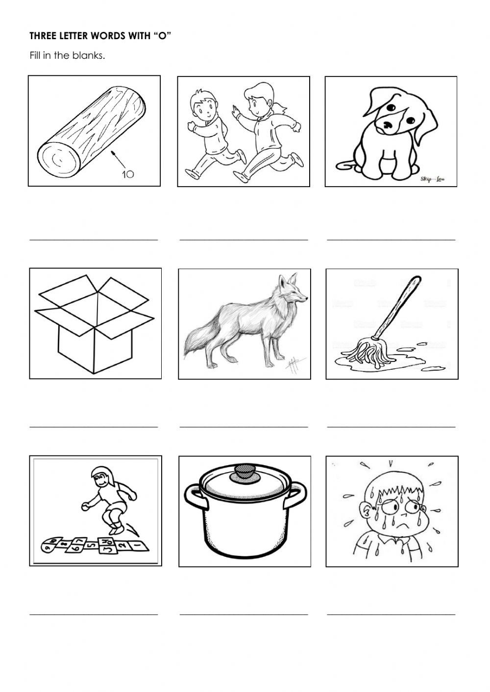 Three Letter Word Worksheets
