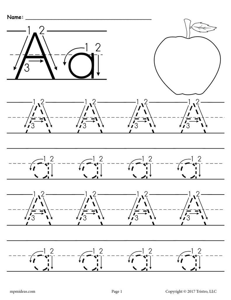 Tracing Letters and Numbers Worksheet