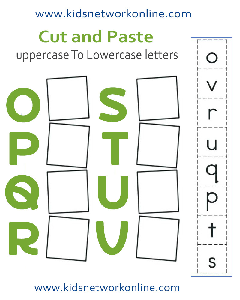 Uppercase and Lowercase Letters Worksheet