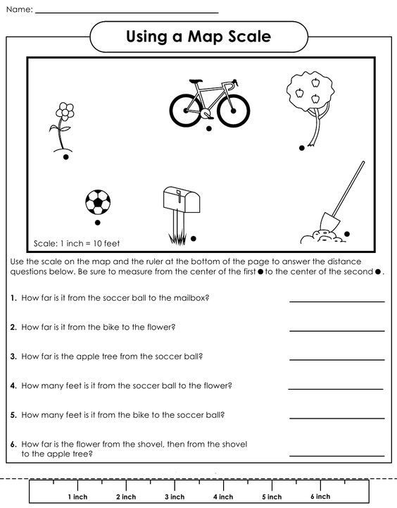 Using Map Scale Worksheets