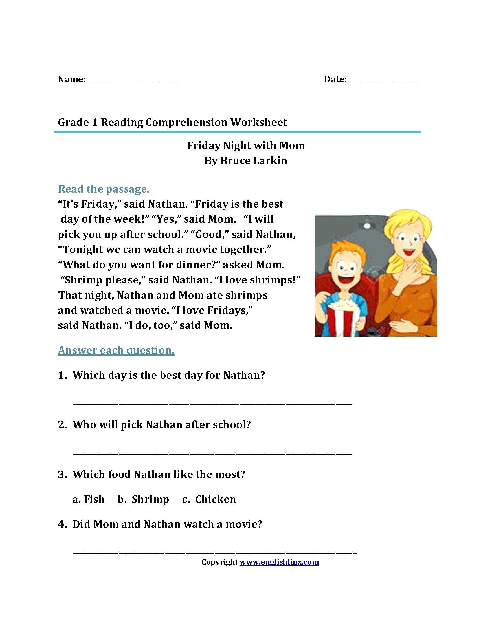 Wh Question Reading Comprehension Worksheets