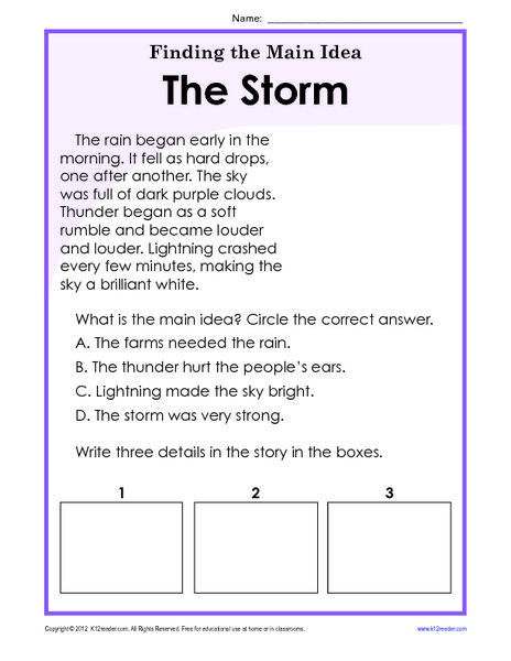 Facts and Details Worksheets