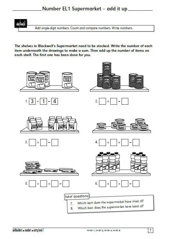 Functional Math Worksheets Special Education A Selection